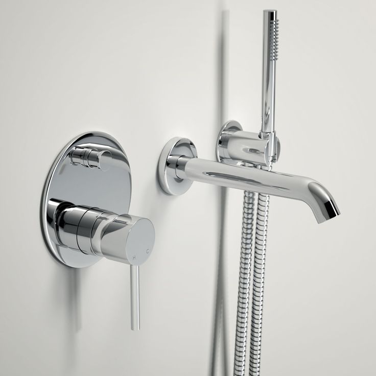 1000+ images about LUSSO LUXE WALL MOUNTED BATH TAP WITH VALVE AND ...