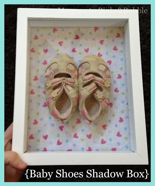 Baby Shoes Shadow Box {Tutorial}