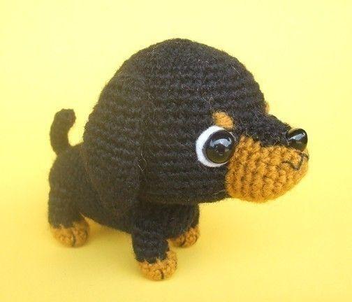 Dachshund Puppy PDF Crochet Pattern van jaravee op Etsy