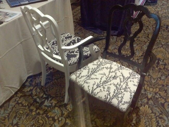 Black and White pair of 2 chairs $150, Item#CS-1016, Sold, to purchase similar items visit http://www.findandtreasure.com/catalogue.html