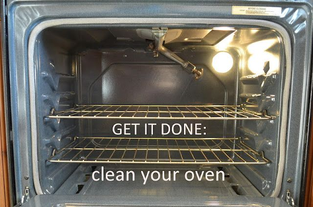 Clean your self cleaning oven without chemicals and without heating up the house! 1/2 C baking soda, 2 T water, 1 t castille soap. Mix it into a paste, coat oven and let sit overnight. Scrub off in morning.