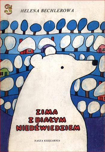 winter with white bear, children's book, Poland