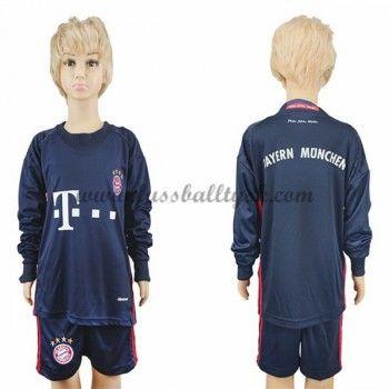 Kinder Fussball Trikot Bayern Munich 2016-17 Torwart Heim Trikotsatz langarm