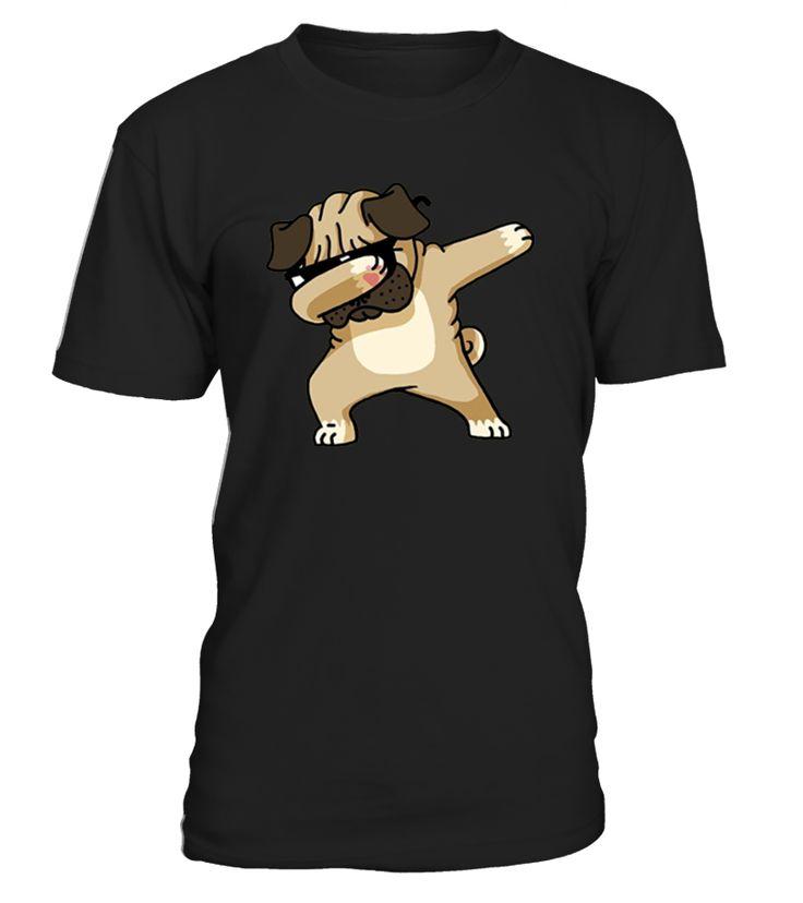 Dabbing Pug Funny Shirt Dab Hip Hop Dog  Funny Easter T-shirt, Best Easter T-shirt