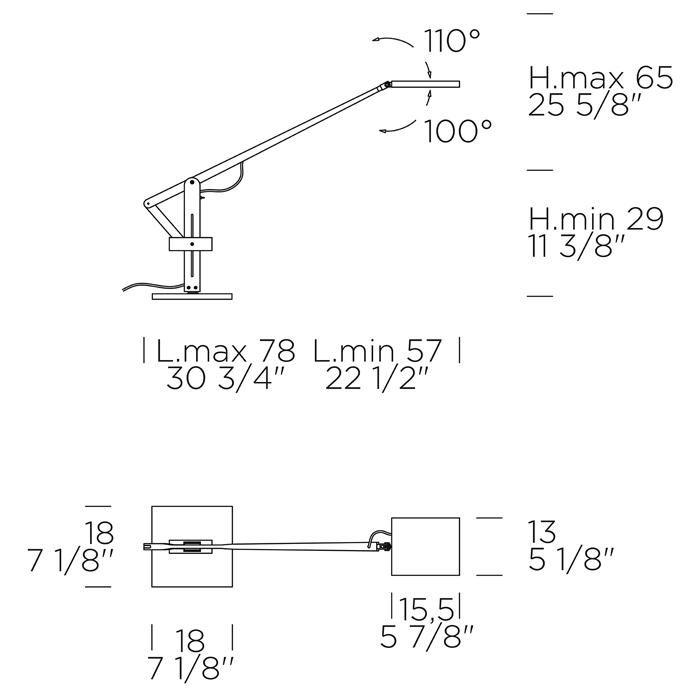 Leva Evo T Table Lamp In 2020 Lamp Steel Properties Task Lamps