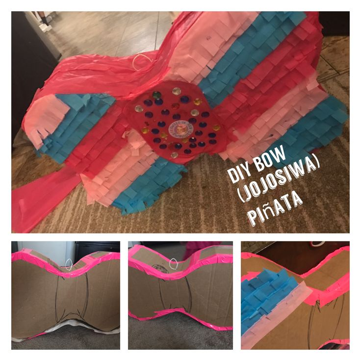 Jojo Siwa Bow Pi 241 Ata Diy Cardboard Duct Tape Tissue