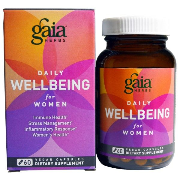Gaia Herbs, Daily Wellbeing, for Women, 60 Vegan Capsules  #stress #formula #support #balance #management #iherb #thingstobuy #shopping #relief