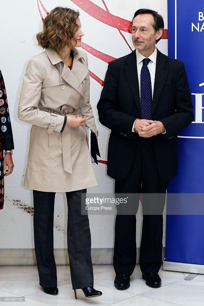 Queen Letizia of Spain attends 'Cooperacion Espanola 2030. Espana y la nueva agenda de desarrollo sostenible' seminar on November 3, 2015 in Madrid, Spain.