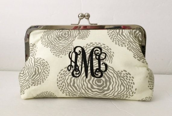Monogram Clutch Purse Personalized Womens Gift by cutiegirlie