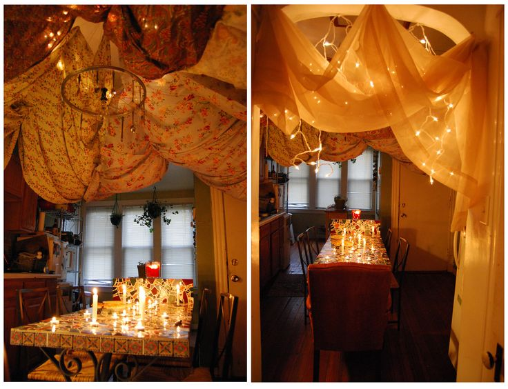 indoor tent inspired by Harry Potter Goblet of Fire campground scene. LOVE  this!