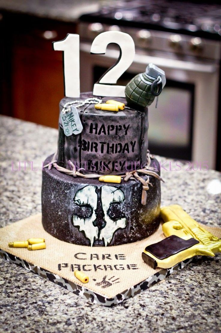 Call of duty ghosts cake: Black Ops Created by: Lit'l D Cakes & Cupcakes