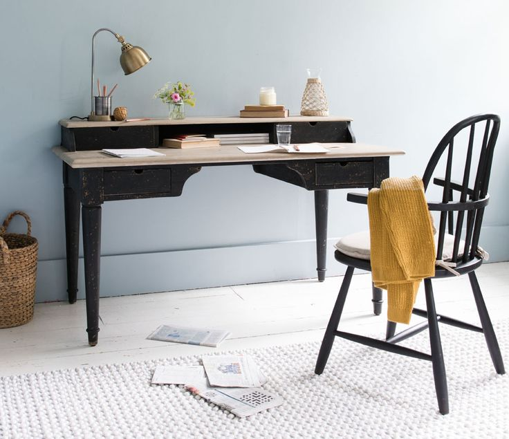 "Our NEW Blotter desk is the perfect home office addition! Ideal Home said: ""Working from home has never looked so appealing, thanks to the addition of this ultra sleek desk black design. This is the darkest addition to the new collection, confirming that the dark furniture trend is only getting bigger. This new Blotter desk design makes a beautifully bold statement, definitely showing who's Boss of home office!"" Read more at…"