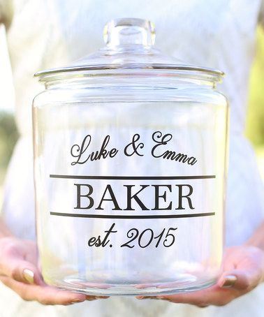 Another great find on #zulily! Personalized Newlywed Cookie Jar #zulilyfinds