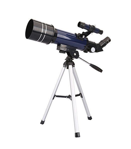 Geertop Telescopio refractor astronómico de alta calidad ultra claro con trípode de mesa y buscador, 400x70mm, para astrónomos principiantes y adolescentes