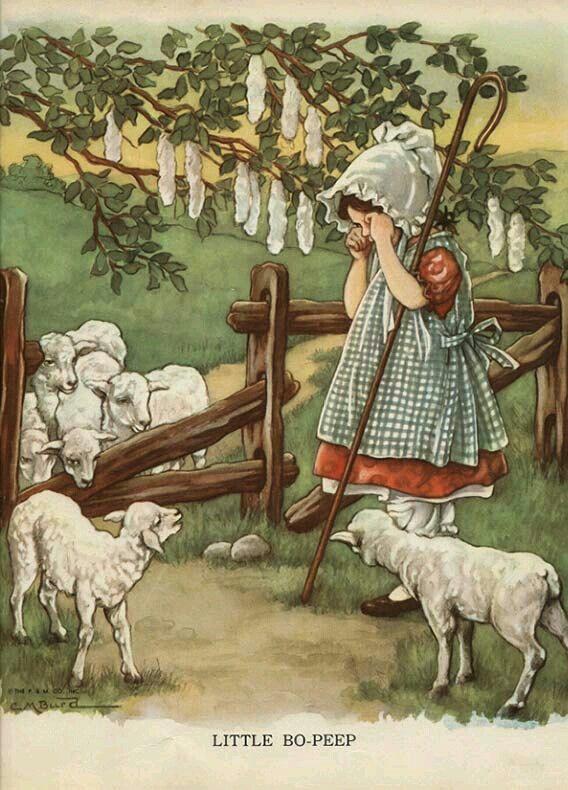 Little Bo Peep, Illustrated by Clara M. Burd, 1930