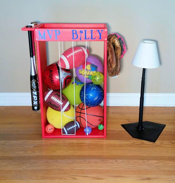 Personalized Sports Ball Storage, Unique Storage, Baseball Football Tennis Soccer Ball Storage, Christmas Gift, Boys Girls, Birthday Gift