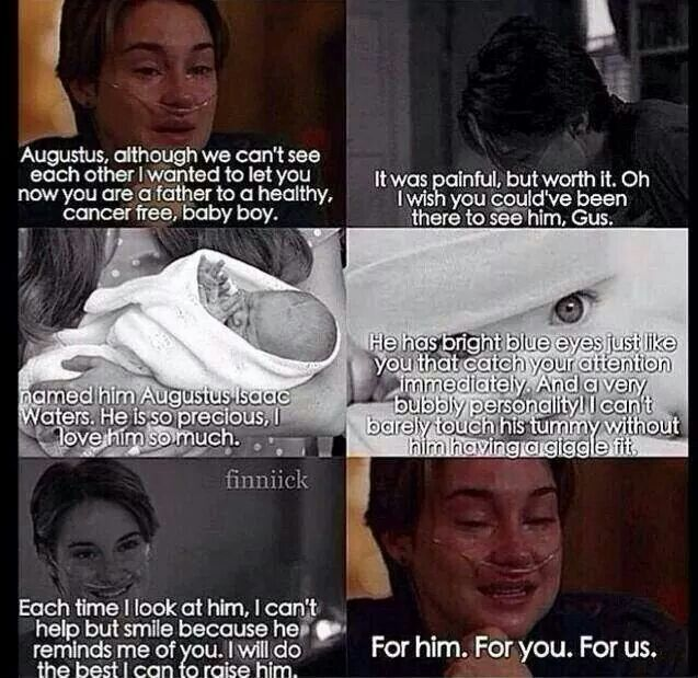 Damn now I'm crying. The Fault In Our Stars