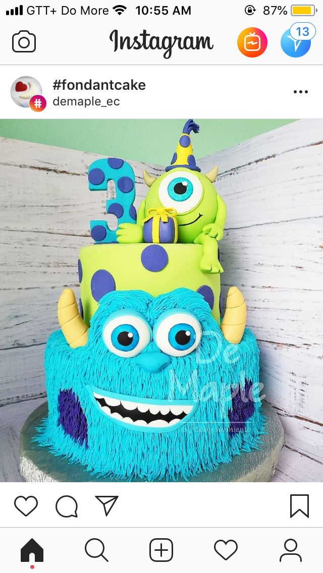 Fantastic Best Cake With Images Monster Inc Cakes Monster Inc Funny Birthday Cards Online Unhofree Goldxyz