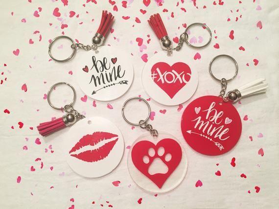 Valentine Key Chains Valentine Keychains Valentine Gift Etsy In 2020 Keychain Craft Acrylic Keychains Keychain