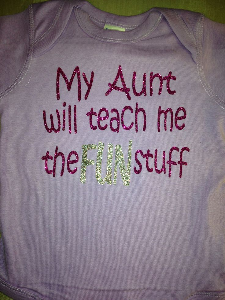 Fun aunt onesie
