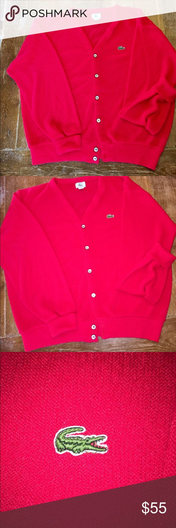 Vintage Lacoste cardigan some piling but real deal In good condition Lacoste Sweaters Cardigans