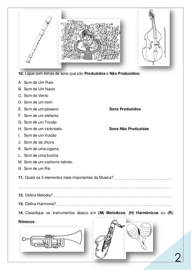 Caderno De Exercicios Mts Adulto 1 Atividades De Musica Para