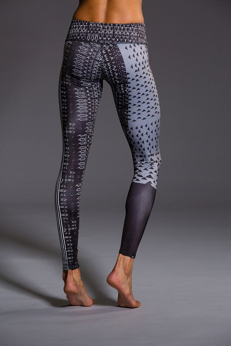 Grey is not boring with these leggings. Blending art and fashion, the unique placement printing process for our Graphic Legging is one of kind! These leggings are custom made and are truly statement p