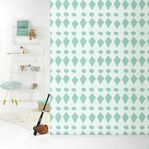 Roomblush Behang Flags pastelgroen papier 1140x50cm