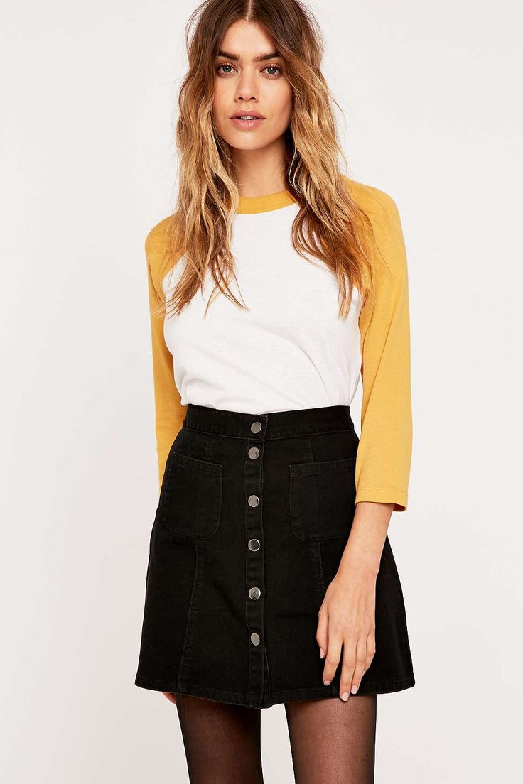 Cooperative by Urban Outfitters Twill A-Line Skirt