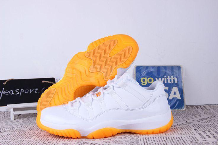 Jordan 11 White And Orange