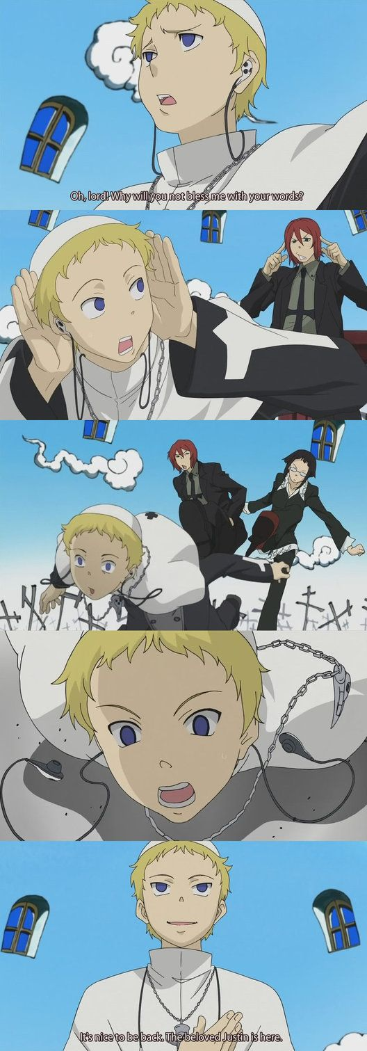 """Justin Law - Soul Eater. Episode 25 """"The Death Scythes Convene – Stop Dad's Staff Reassignment!?"""""""