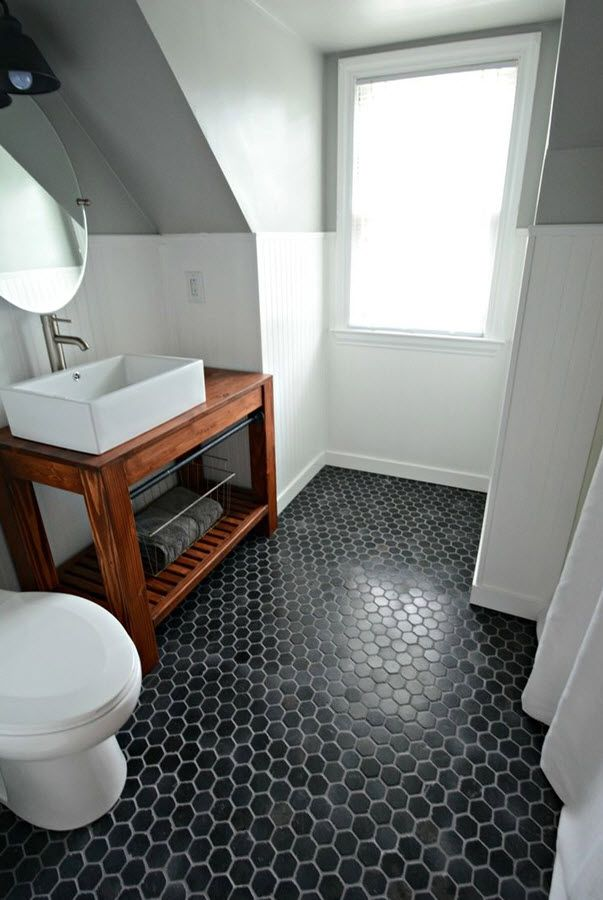 33 Black Slate Bathroom Floor Tiles Ideas And Pictures