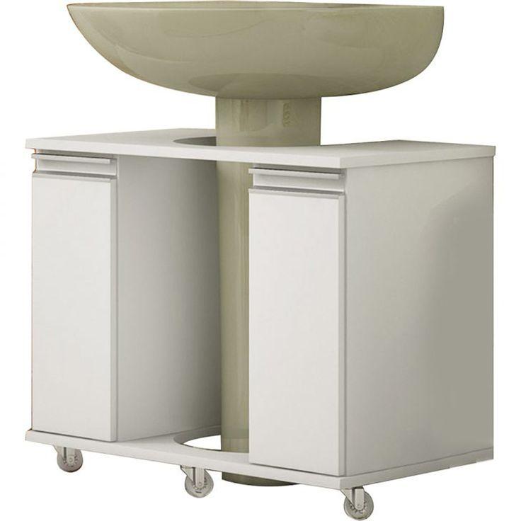 Armário para Banheiro para Lavatório de Coluna 53cm x 70cm x 41cm Branco em M # Armario De Banheiro Mobly