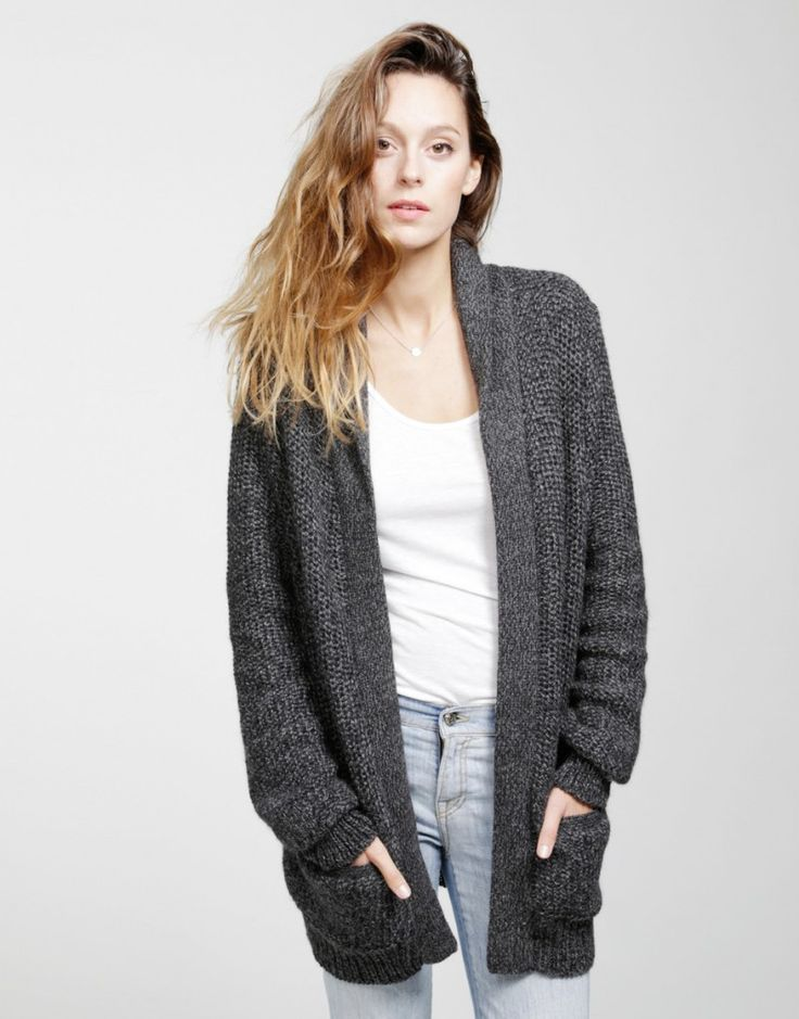 Wool And The Gang Shacklewell Grey Georges Cardigan