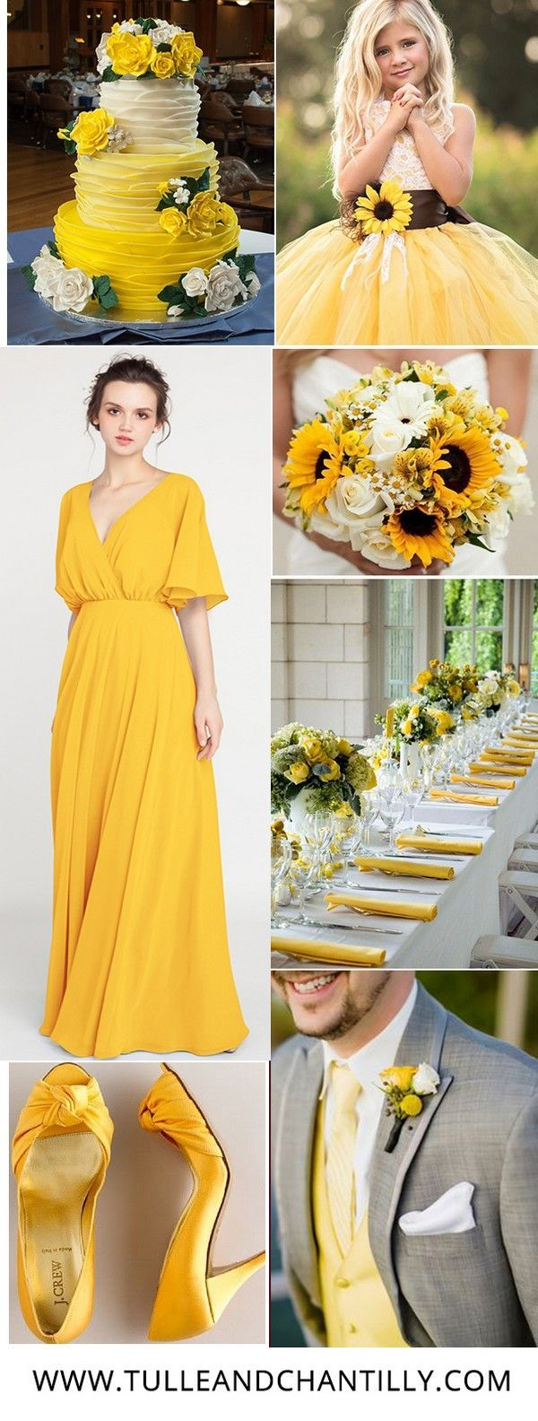 V Neck Sleeved Long Bridesmaid Dress With Open Back Tbqp385 Yellow Bridesmaid Dresses Yellow Bridesmaids Yellow Wedding Dress [ 1584 x 600 Pixel ]