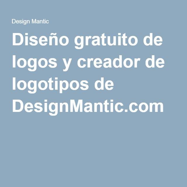 Diseño gratuito de logos y creador de logotipos de DesignMantic.com