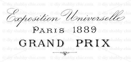 FRENCH-FURNITURE-DECAL-DIY-SHABBY-CHIC-IMAGE-TRANSFER-VINTAGE-LABEL-GRAND-PRIX