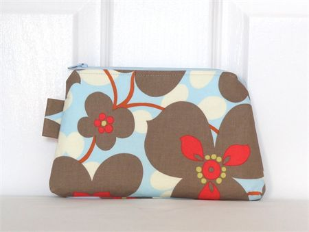 Amy Butler Lotus Morning Glory Zippered Pouch
