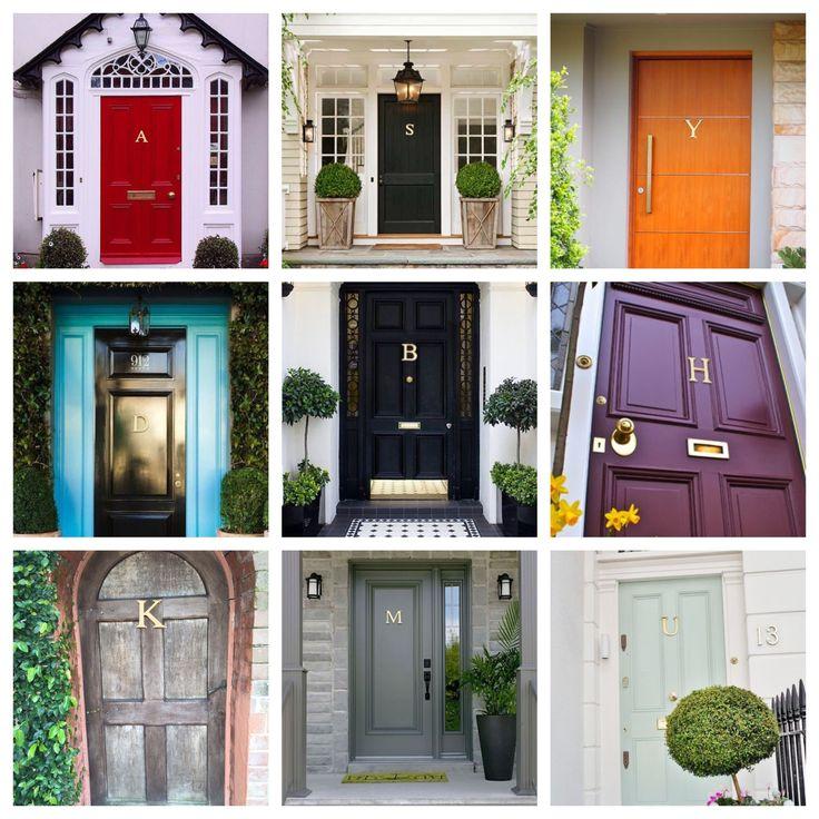 Doors   Enhance Yours With A Brass Monogram Door Knocker