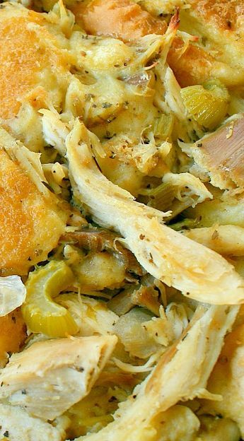 Amish Roast Turkey (or Chicken) and Dressing Casserole