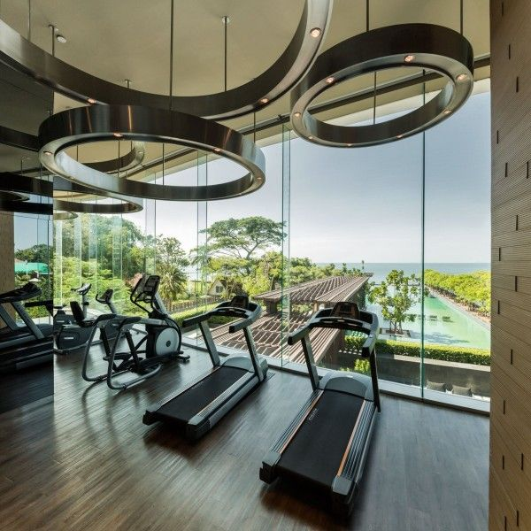 Luxury Beachfront Condo Development In Pattaya Private Gym Design