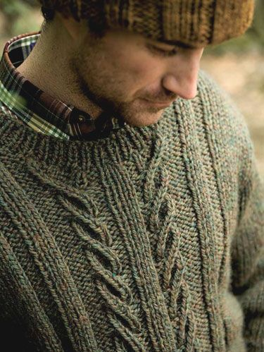 Sage green blend jumper from Berroco Devon reminds you that money really can't buy happiness.