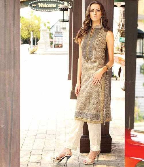 Orient Embroidered Lawn Kurti Collection 2015 OTL_112B