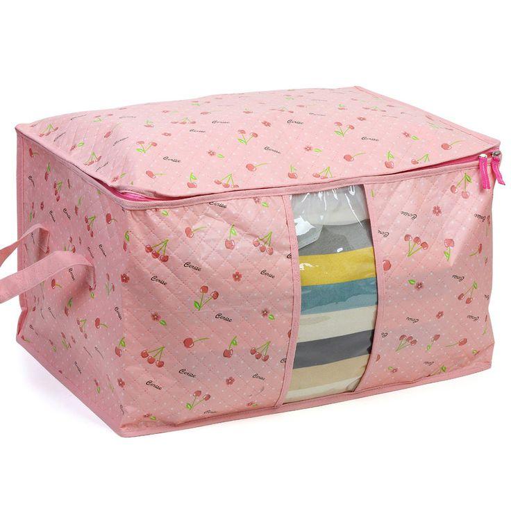 Pink plastic blanket storage ideas organization and for Comforter storage ideas