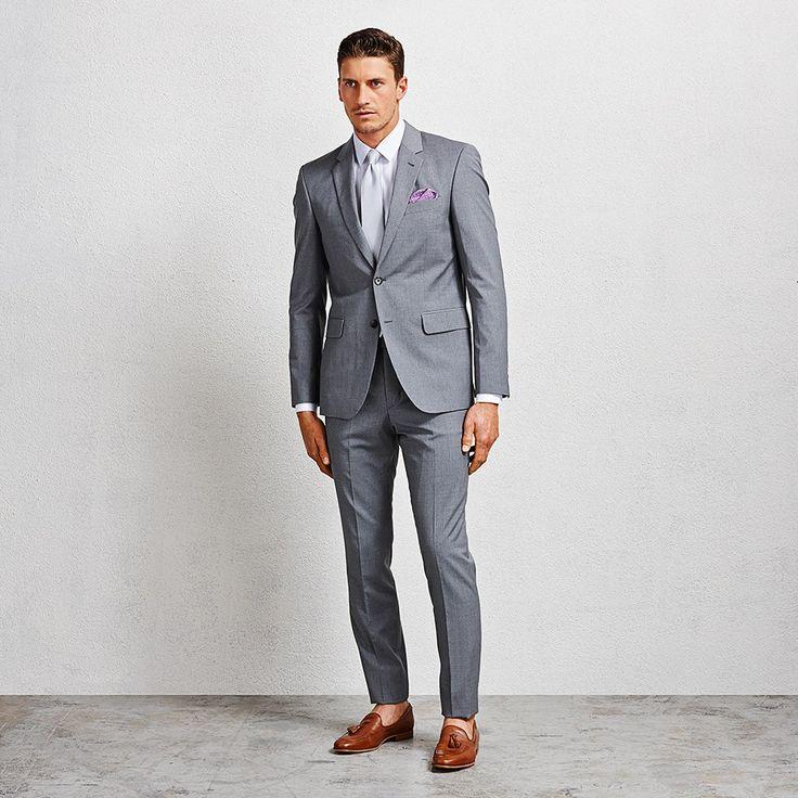 Hoffman Grey Suit #suit #greysuit #aquila