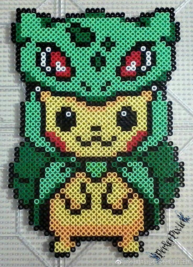 不理拼豆# | jewelry | Beading patterns, Pokemon perler beads