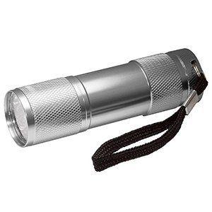 Guilty Gadgets ® - Silver 9 Ultra Bright LED Powerful Aluminium Military Camping Torch Flashligh