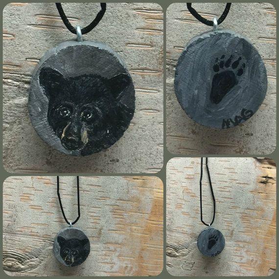 Black Bear Necklace Pendant Jewelry Men Women by TheBackyardBear