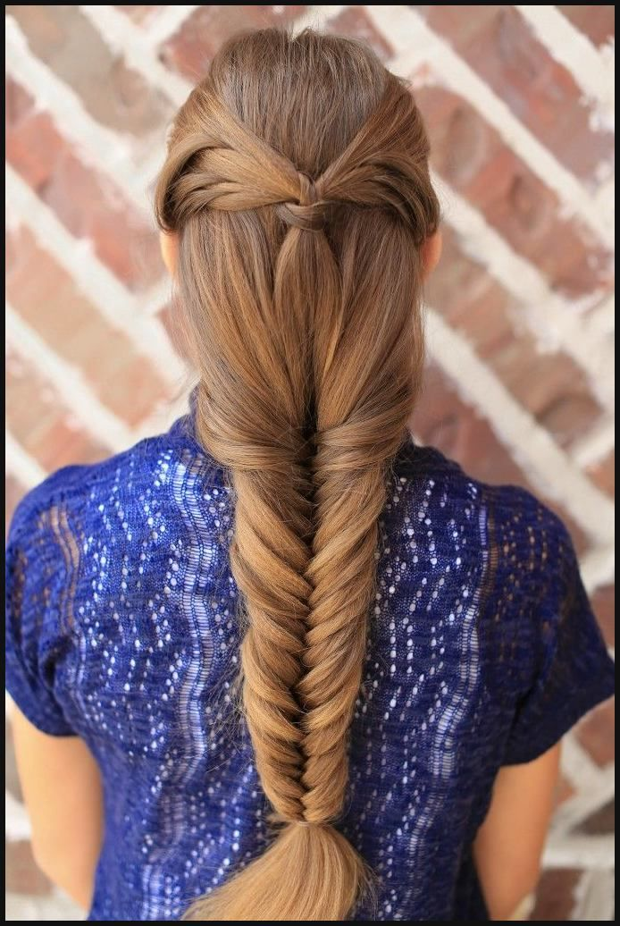 Angel Wing Fishtail Combo Hairstyle | Cute Girls Hairstyles ...