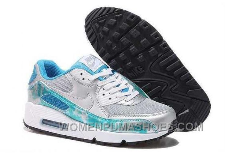 http://www.womenpumashoes.com/nike-air-max-90-womens-white-blue-grey-for-sale-bc8af.html NIKE AIR MAX 90 WOMENS WHITE BLUE GREY FOR SALE BC8AF Only $74.00 , Free Shipping!